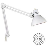 Dainolite Lighting Task 1 Light Office in White  DPX10-WH