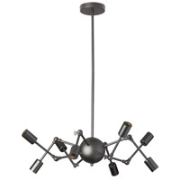 Dresden 8 Light 28 inch Matte Black Chandelier Ceiling Light