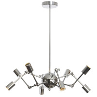 Dresden 8 Light 28 inch Polished Chrome Chandelier Ceiling Light