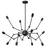 Dresden 12 Light 43 inch Matte Black Chandelier Ceiling Light