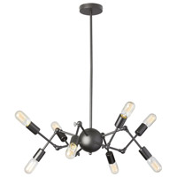 Dainolite Dresden 8 Light Chandelier in Matte Black DRS-828C-MB