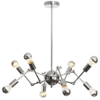 Dresden 8 Light 34 inch Polished Chrome Chandelier Ceiling Light