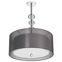 Dainolite Lighting Crystal Organza 4 Light Pendant in Polished Chrome  DT400-22-3-PC-BK