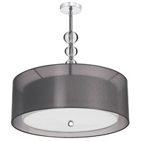 Dainolite Lighting Crystal Organza 4 Light Pendant in Polished Chrome  DT590-28-4-PC-BK photo thumbnail