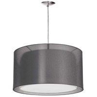 Dainolite DT590P-PC-BK Signature LED 17 inch Polished Chrome Pendant Ceiling Light