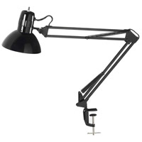 Dainolite DXL334-X-BK Signature 18 inch 100 watt Black Desk Lamp Portable Light