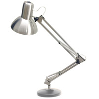 Dainolite DXLED-334B-SC Signature 36 inch 8 watt Satin Chrome Desk Lamp Portable Light