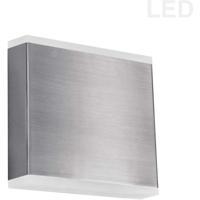 Dainolite EMY-550-5W-SC Emery LED 5 inch Satin Chrome/Frosted Wall Light Decorative