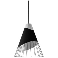 Dainolite FAR-1619-697 Farthingale LED 16 inch Black Pendant Ceiling Light