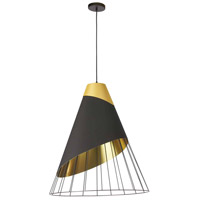 Dainolite FAR-1619-698 Farthingale LED 16 inch Black Pendant Ceiling Light