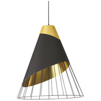 Dainolite FAR-2428-698 Farthingale LED 24 inch Black Pendant Ceiling Light