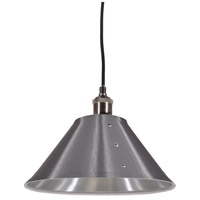 Fayette 1 Light 12 inch Satin Chrome Pendant Ceiling Light