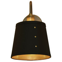 Fayette 1 Light 8 inch Vintage Steel Wall Sconce Wall Light, Brass Rivets