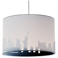 Dainolite FEL-151P-WH-NY Felicity 1 Light 15 inch Polished Chrome Pendant Ceiling Light