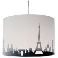 Dainolite FEL-151P-WH-PAR Felicity 1 Light 15 inch Polished Chrome Pendant Ceiling Light