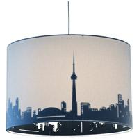 Dainolite FEL-151P-WH-TOR Felicity 1 Light 15 inch Polished Chrome Pendant Ceiling Light