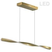 Dainolite FIN-4032LEDHP-AGB Finn LED 40 inch Aged Brass Horizontal Pendant Ceiling Light