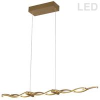 Dainolite FLO-40HP-AGB Florence LED 40 inch Aged Brass Pendant Ceiling Light