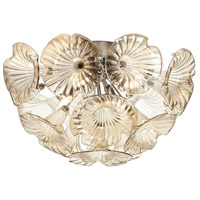 Dainolite Frangipani 4 Light Flush Mount in Polished Chrome FRA-184FH-PC-CHN