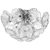 Dainolite Frangipani 4 Light Flush Mount in Polished Chrome FRA-184FH-PC-CLR
