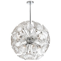 Dainolite Frangipani 12 Light Chandelier in Polished Chrome FRA-2312C-PC-CLR
