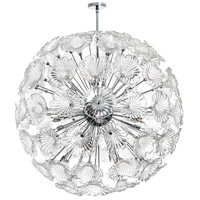 Dainolite Frangipani 20 Light Chandelier in Polished Chrome FRA-4020C-PC-CLR