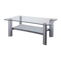 Dainolite Lighting Signature Furniture in Clear and Silver  GCT-320-CGL-SV