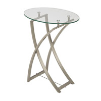 Dainolite GCT-510-CGL-SC Signature 24 X 20 inch Clear and Satin Chrome Side Table photo thumbnail