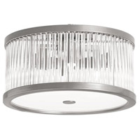 Gage 4 Light 13 inch Satin Chrome Flush Mount Ceiling Light