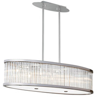 Dainolite GGE-367HP-SC Gage 7 Light 37 inch Satin Chrome Pendant Ceiling Light