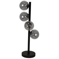 Dainolite GLA-204T-MB Glasgow 25 inch 25 watt Matte Black Table Lamp Portable Light