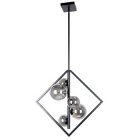Dainolite GLA-215P-MB Glasgow 5 Light 11 inch Matte Black Pendant Ceiling Light