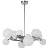 Dainolite GLA-2812C-PC Glasgow LED 10 inch Polished Chrome/Clear Chandelier Ceiling Light Round