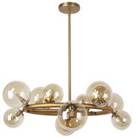Dainolite GLA-2812C-VB Glasgow LED 28 inch Vintage Bronze/Champagne Chandelier Ceiling Light Round