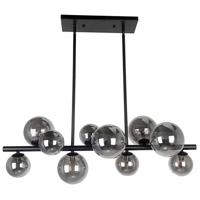 Dainolite GLA-3110HP-MB Glasgow 10 Light 31 inch Matte Black Horizontal Pendant Ceiling Light