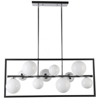 Glasgow LED 33 inch Matte Black and Polished Chrome Horizontal Pendant Ceiling Light