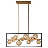 Glasglow 10 Light 33 inch Matte Black and Vintage Bronze Pendant Ceiling Light