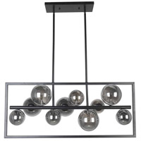 Dainolite GLA-3310HP-MB Glasgow 10 Light 33 inch Matte Black Horizontal Pendant Ceiling Light