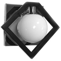Black and Polished Chrome Wall Sconces