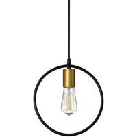 Dainolite GMT-111P-MB-VB Geometric LED 12 inch Matte Black and Vintage Bronze Pendant Ceiling Light