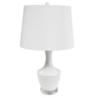 White Goliath Table Lamps