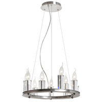 Dainolite Gallery 9 Light Chandelier in Satin Chrome GRY-1809C-SC