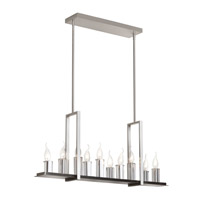 Dainolite Gallery 10 Light Chandelier in Satin Chrome GRY-3410C-SC