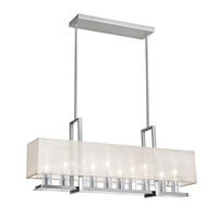 Dainolite Gallery 10 Light Horizontal Chandelier in Satin Chrome GRY-3510C-SC-817