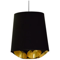 Dainolite HAD-M-698 Hadleigh 1 Light 20 inch Black Pendant Ceiling Light
