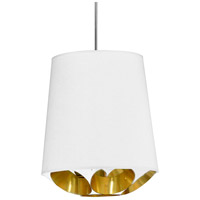 Dainolite HAD-S-692 Hadleigh 1 Light 14 inch White Pendant Ceiling Light