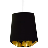 Dainolite HAD-S-698 Hadleigh 1 Light 14 inch Black Pendant Ceiling Light