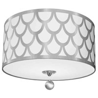 Hannah 3 Light 15 inch Silver and Polished Chrome Flush Mount Ceiling Light