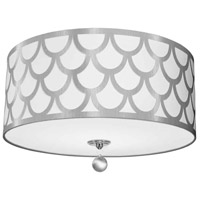 Hannah 4 Light 19 inch Silver and Polished Chrome Flush Mount Ceiling Light