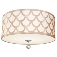 Hannah 4 Light 19 inch Winter Gold and Polished Chrome Flush Mount Ceiling Light